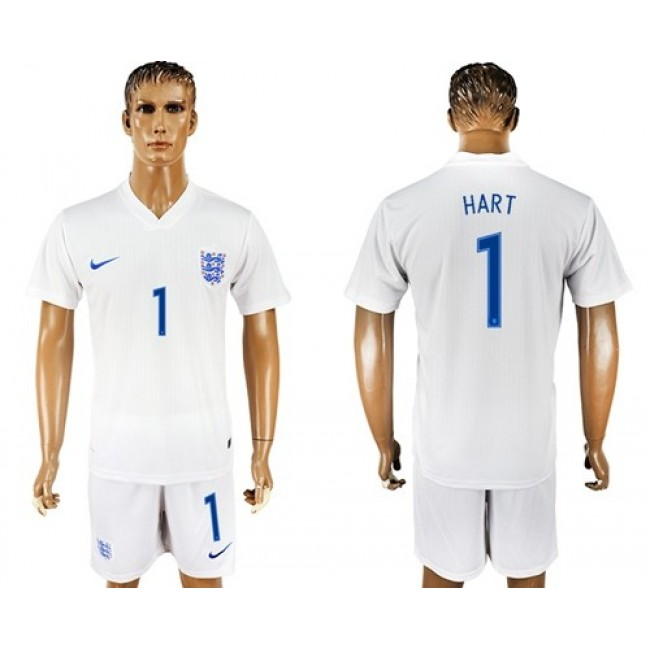 Nike/Adidas England #1 Hart Home Soccer Country Jersey