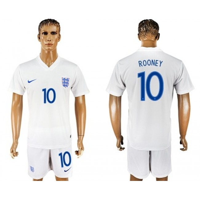 Nike/Adidas England #10 Rooney Home Soccer Country Jersey