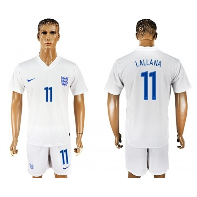 Nike/Adidas England #11 Lallana Home Soccer Country Jersey