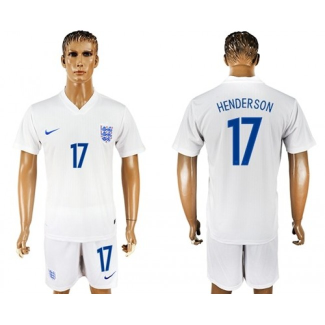 Nike/Adidas England #17 Henderson Home Soccer Country Jersey