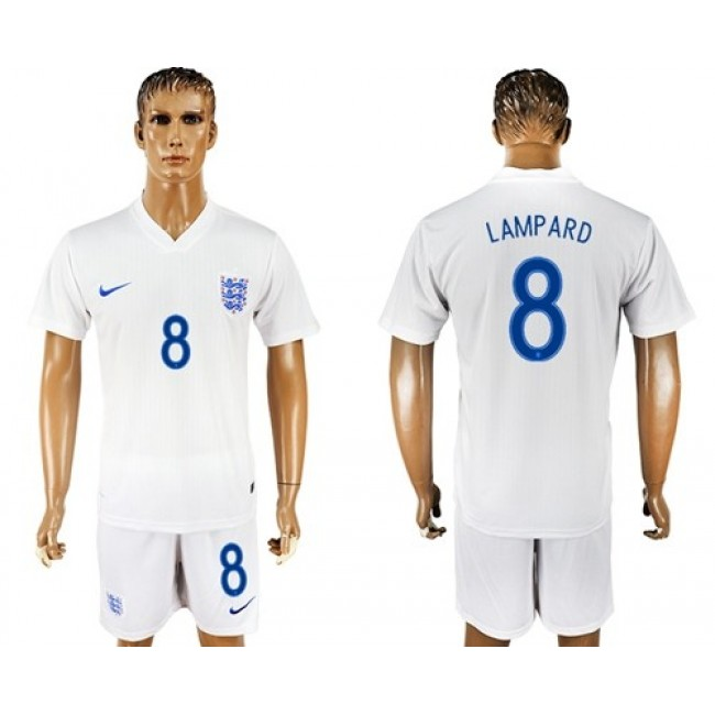 Nike/Adidas England #8 Lampard Home Soccer Country Jersey