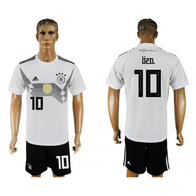 Nike/Adidas Germany #10 Ozil White Home Soccer Country Jersey