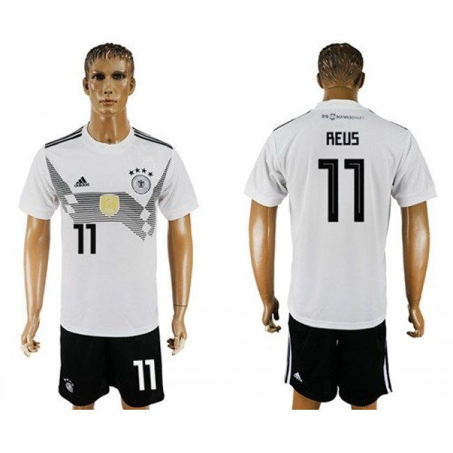 Nike/Adidas Germany #11 Reus White Home Soccer Country Jersey