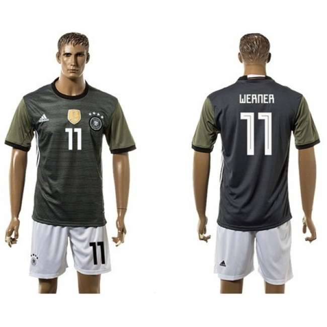 Nike/Adidas Germany #11 Werner Away Soccer Country Jersey