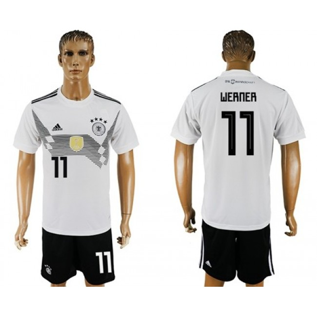 Nike/Adidas Germany #11 Werner White Home Soccer Country Jersey