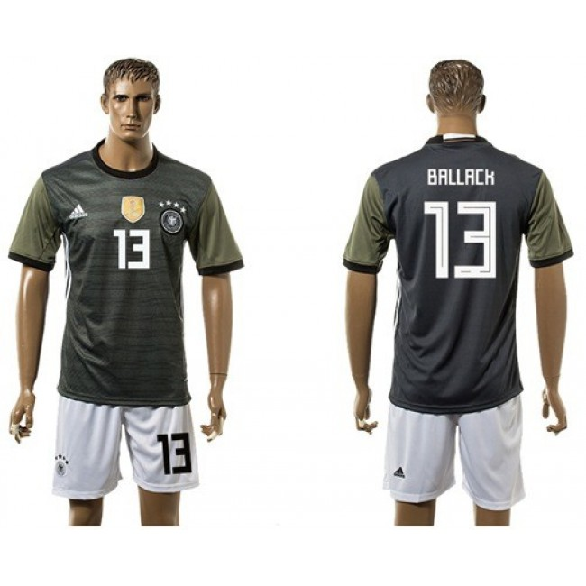 Nike/Adidas Germany #13 Ballack Away Soccer Country Jersey