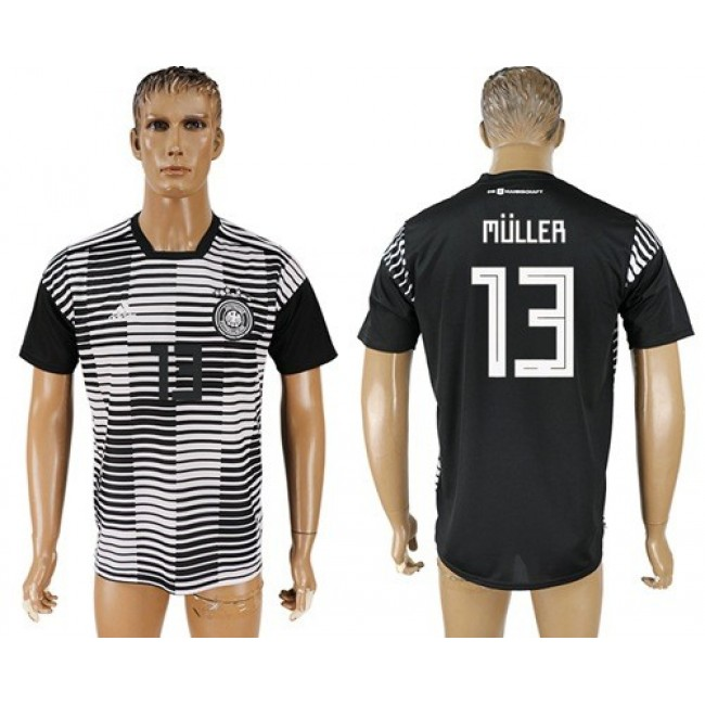 Nike/Adidas Germany #13 Muller Away Soccer Country Jersey