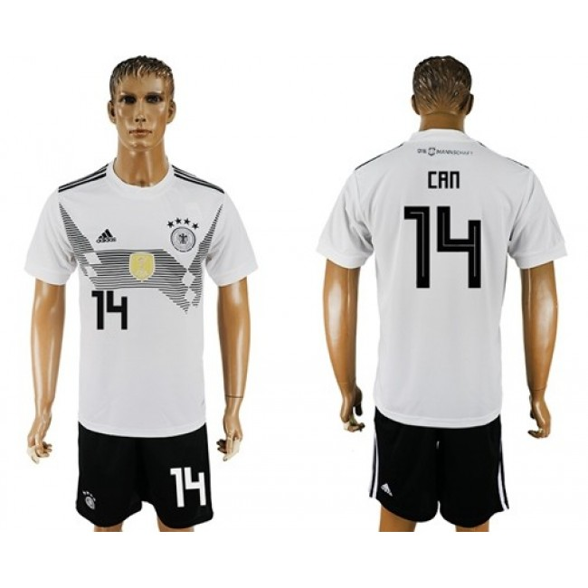 Nike/Adidas Germany #14 Can White Home Soccer Country Jersey