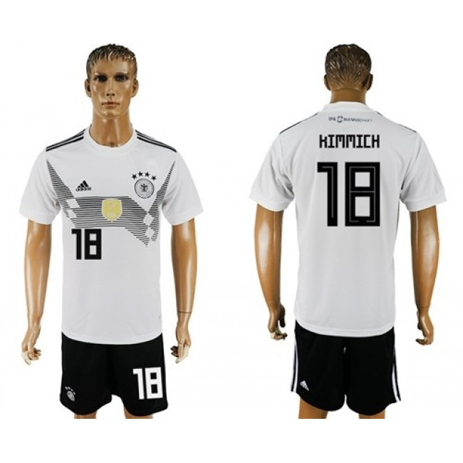 Nike/Adidas Germany #18 Kimmich White Home Soccer Country Jersey