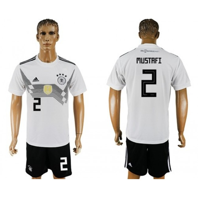Nike/Adidas Germany #2 Mustafi White Home Soccer Country Jersey