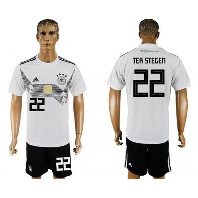 Nike/Adidas Germany #22 Ter Stegen White Home Soccer Country Jersey