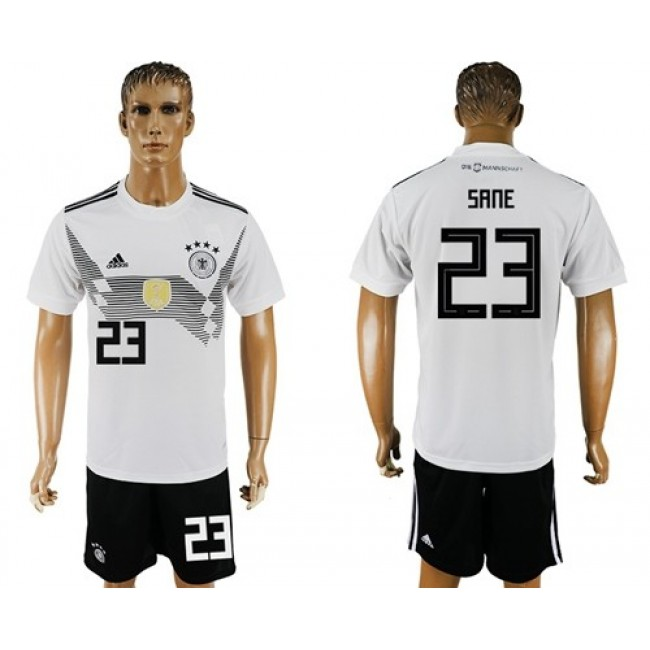 Nike/Adidas Germany #23 Sane White Home Soccer Country Jersey