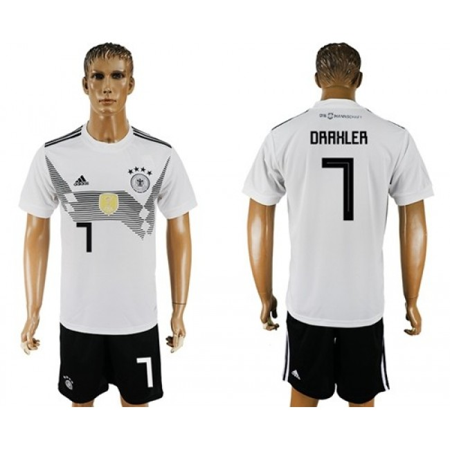 Nike/Adidas Germany #7 Draxler White Home Soccer Country Jersey