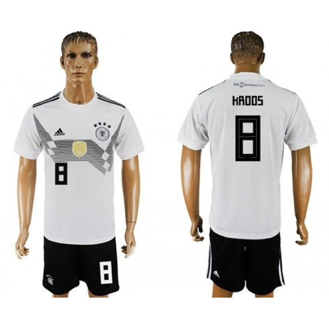 Nike/Adidas Germany #8 Kroos White Home Soccer Country Jersey
