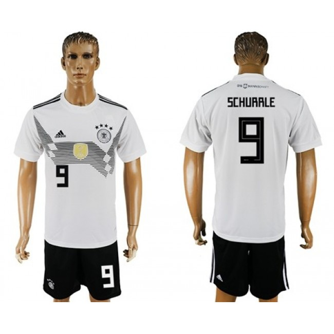 Nike/Adidas Germany #9 Schurrle White Home Soccer Country Jersey