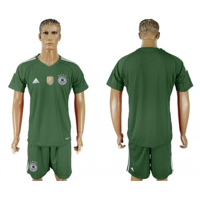 Nike/Adidas Germany Blank Army Green Goalkeeper Soccer Country Jersey