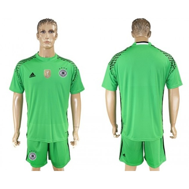 Nike/Adidas Germany Blank Green Goalkeeper Soccer Country Jersey