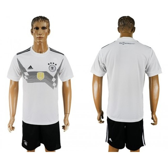 Nike/Adidas Germany Blank White Home Soccer Country Jersey