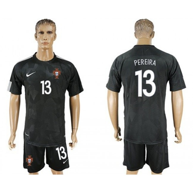 Nike/Adidas Portugal #13 Pereira Away Soccer Country Jersey
