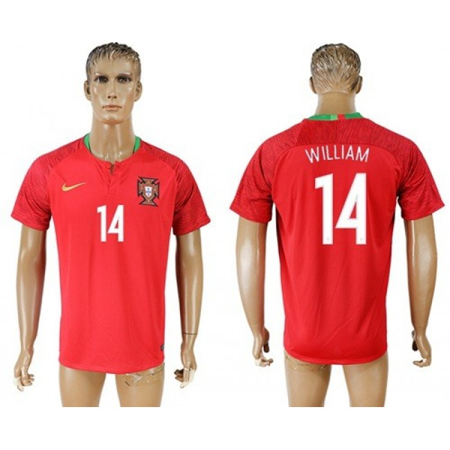 Nike/Adidas Portugal #14 William Home Soccer Country Jersey