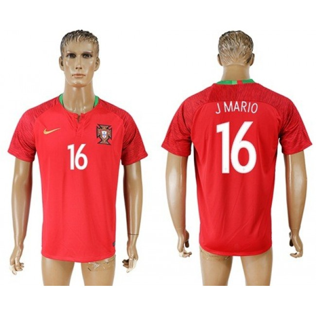 Nike/Adidas Portugal #16 J Mario Home Soccer Country Jersey