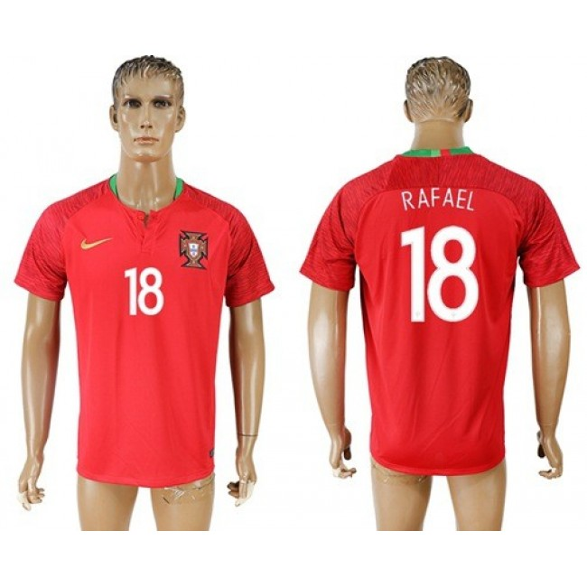 Nike/Adidas Portugal #18 Rafael Home Soccer Country Jersey