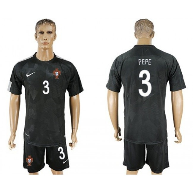 Nike/Adidas Portugal #3 Pepe Away Soccer Country Jersey
