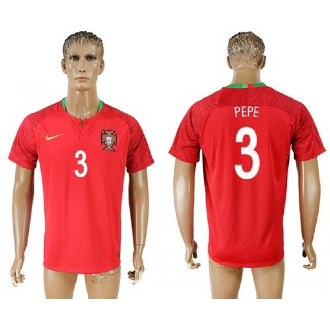Nike/Adidas Portugal #3 Pepe Home Soccer Country Jersey