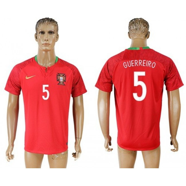 Nike/Adidas Portugal #5 Guerreiro Home Soccer Country Jersey