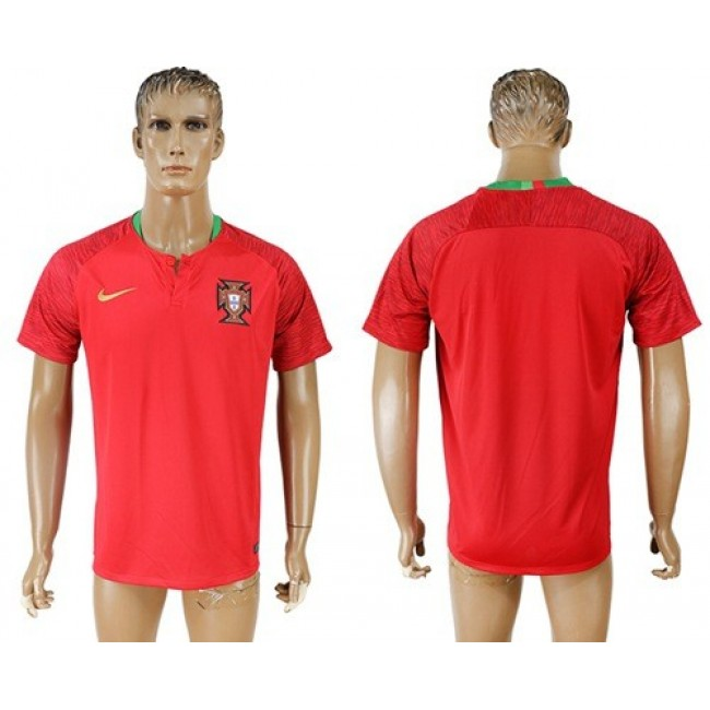 Nike/Adidas Portugal Blank Home Soccer Country Jersey